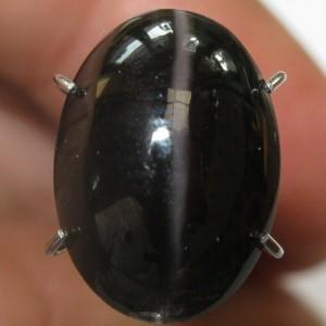 Greyish Black Cat Eye Sillimanite 5.19 carat