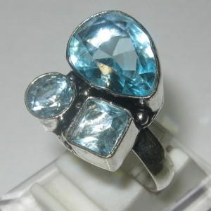 Cincin Silver Model Topaz CZ Ring 7.5US