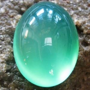 Chalcedony Hijau Glossy 10.10 carat