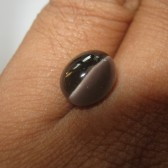 Greyish Black Sillimanite Cat Eye 4.70 carat