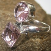 Pink CZ Silver 925 Ring 6.5US