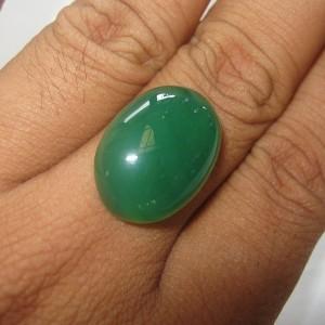 Chalcedony Hijau Bacan Indah 18.50 carat