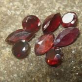 Set Garnet Almandite 8 Pcs 4.70 carat
