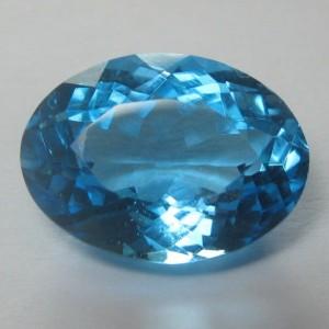 Siwss Blue Topaz Oval Cut 3.48 carat