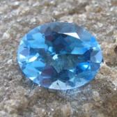 Swiss Blue Topaz Oval 2.65 carat