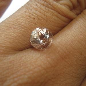 Round Pink Morganite VSI 1.60 carat
