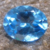 Swiss Blue Topaz Oval 2.91 carat