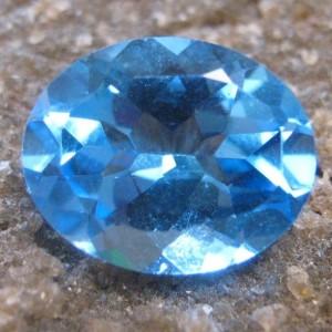 Swiss Blue Topaz Oval 2.91 carat