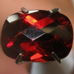 Red Cushion Garnet Pyrope 1.62 carat