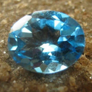 Oval Swiss Blue Topaz 2.85 carat