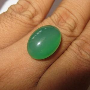 Chalcedony Medium Green 11.50 carat