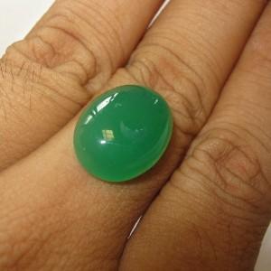 Oval Cab Green Chalcedony 11.70 carat
