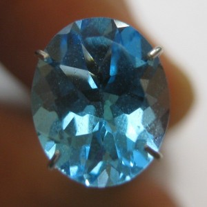 Oval Swiss Blue Topaz 4.98 carat