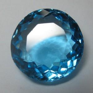 Round Swiss Blue Topaz 5.63 carat