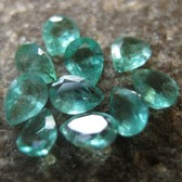 10 Pcs Pear Shape Emerald Micro Setting 1.45 carat