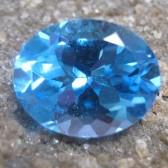 Swiss Blue Topaz Oval 2.93 carat