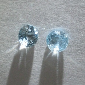 Couple Round Blue Topaz 1.6 cts