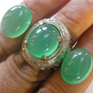 Paket Chalcedony 2 Pcs Plus Ring 7.5US
