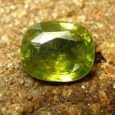 Foto Batu Permata Zircon Cushion Cut 2.95 carat Sisi Bawah