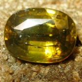 Orangy Yellow Oval Zircon 3.48 carat