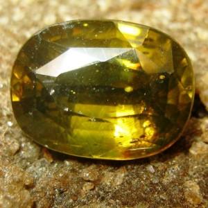Orangy Yellow Oval Zircon 3.48 carat