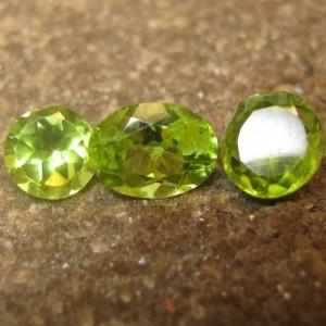 3 Pcs Peridot Mix Shape 3.95 carat