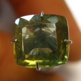 Cushion Yellowish Green Zircon 2.96 carat