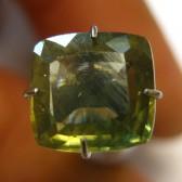 Cushion Yellowish Green Zircon 2.96 carat
