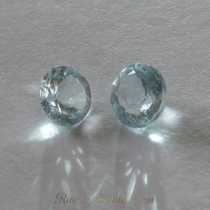 Sky Blue Topaz Round Pair 3 carat