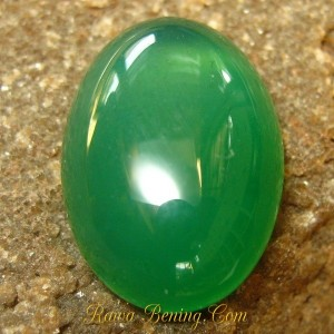 Oval Cab Green Chalcedony 12.90 carat