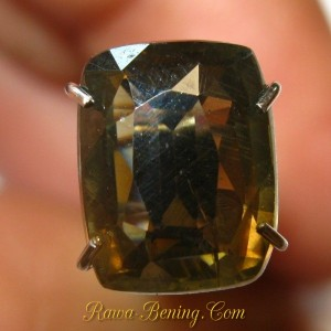 Cushion Yellowish Brown Zircon 2.88 carat