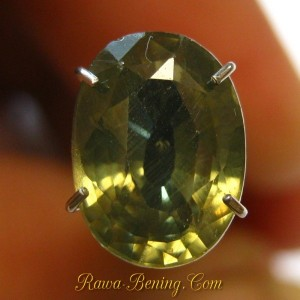 Light Greysih Brown Oval Zircon 3.04 carat