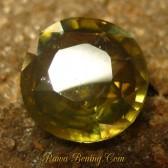 Round Cut Zircon Hijau Kekuningan 3.08 carat