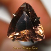 Triangular Pinkish Orange Zircon 2.38 carat
