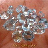 20 Pcs Mix Shape Sky Topaz 55 carat