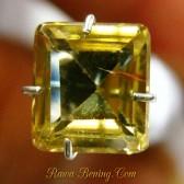 Batu Permata Zircon Bentuk Kotak 2.31 carat Warna Kuning Kecoklatan