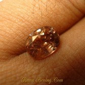 Pinkish Orange Zircon Oval Cut 2.52 carat