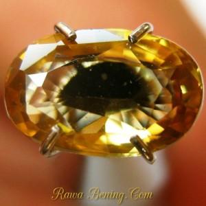 permata zircon warna kuning emas