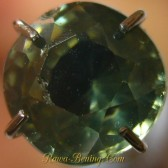 Round Cut Zircon Greenish Grey 1.85 carat
