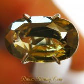 Yellowish Green Oval Zircon 2.08 carat