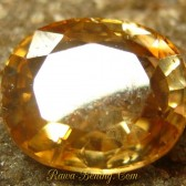 Light Yellowish Orange Zircon 2.59 carat