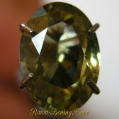 Greenish Oval Yellow Zircon 2.02 carat
