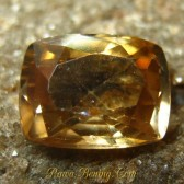 Cushion Yellowish Orange Zircon 2.61 carat