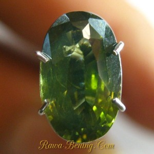 batu permata zircon warna hijau