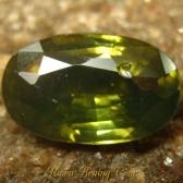 Greyish Green Oval Zircon 2.59 carat