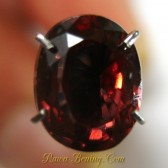 Oval Orangy Pink Zircon 2.62 carat