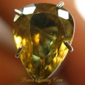 Orangy Yellow Pear Cut Zircon 2.48 carat
