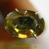Zircon Oval Kuning Kecoklatan 2.60 carat