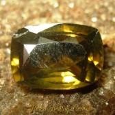 Zircon Kuning Kecoklatan Cushion 2.68 carat
