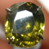 Zircon Cushion Greenish Yellow 2.44 carat